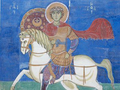 Всенощное бдение в Сретенском монастыре накануне дня памяти великомученика и победоносца Георгия