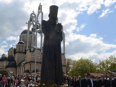 A monument to Patriarch Pavle of Serbia is unveiled in Kosovo
