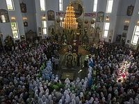 Over 75,000 believers venerate relics of St. Vladimir in Belarus