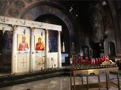 Fire Damages Greek Orthodox Church On Long Island
