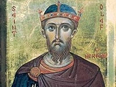 Holy Passion-Bearer King Olaf II of Norway
