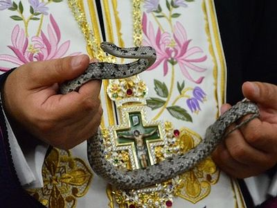 (Photos and Video) Virgin Mary's Snakes Appear Again in Tiny Kefallonia Church