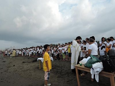Mass Baptism in the Philippines
