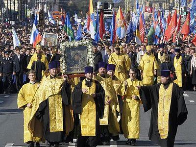 В Санкт-Петербурге прошел 100-тысячный крестный ход в честь Александра Невского