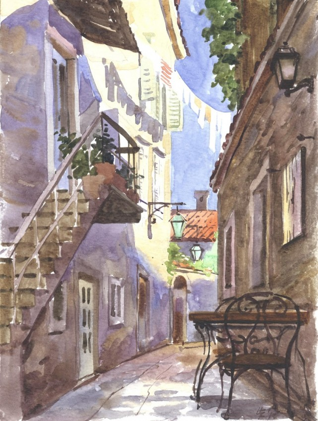 Утро в старом городе
