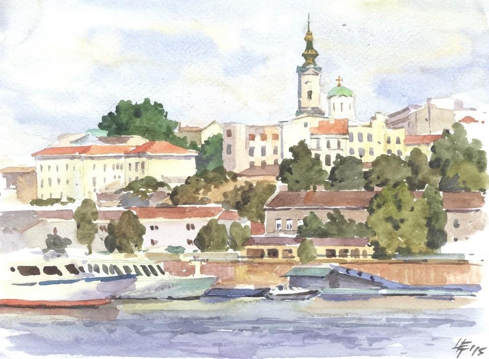 Берег Дуная. Белград