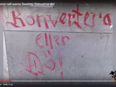 Christians in Sweden Given Option by Islamic Vandals to 'Convert or Die'