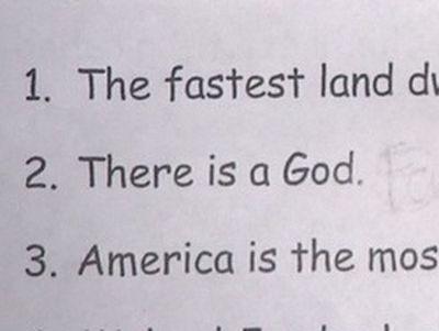 Deny God, or Fail, Texas Teacher Tells Students