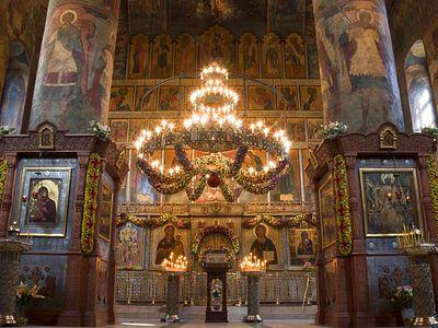 Божественная литургия в Сретенском монастыре в Неделю 23-ю по Пятидесятнице