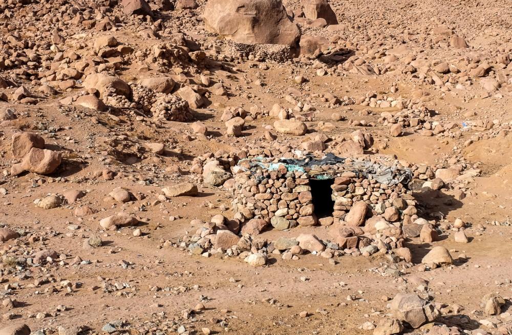 A bedouin-cameleer's hut
