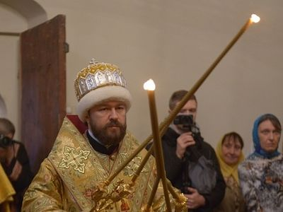Metropolitan Hilarion celebrates Old Rite Liturgy at the Moscow Church of the Protecting Veil in Rubtsovo