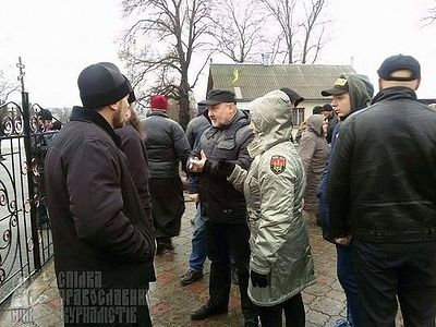 """Right Sector"" has blocked a church and is holding parishioners hostage without light and water"