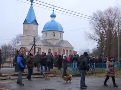 A church is seized in the Ukraine's Zhytomyr region