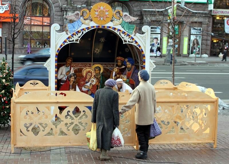 Manger scene on the Kreschatik, Kiev