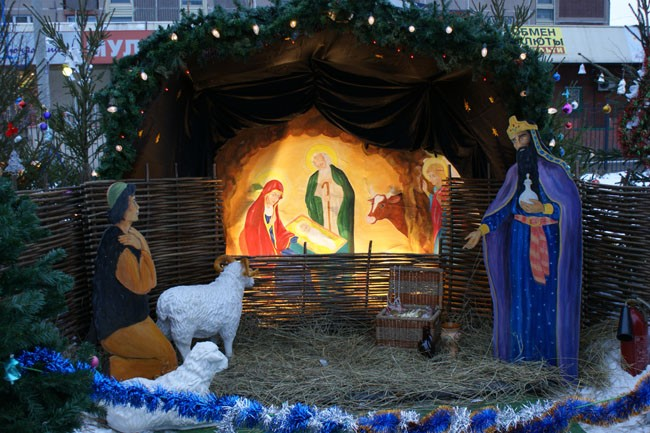 But of course, now manger scenes are being set up in many churches.