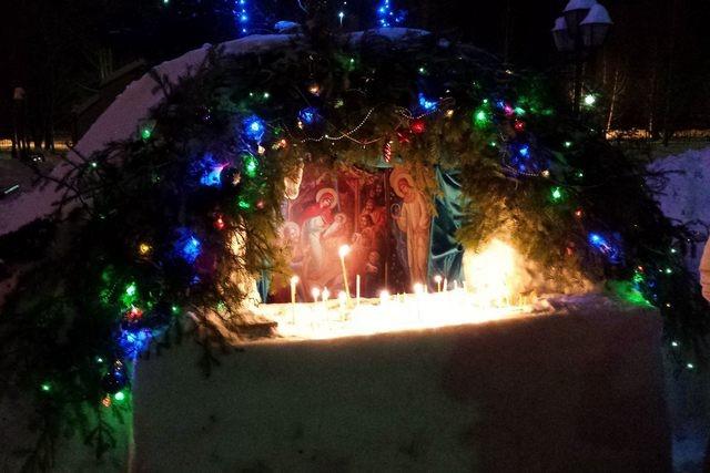 A manger scene in Tomsk