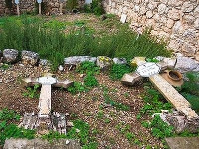 Иерусалим: неизвестными осквернено христианское кладбище