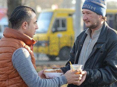 50 гривен от бездомного