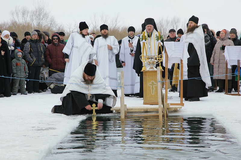The land blessed by the spiritual labors of St. Sebastian of Karaganda. Bishop Sebastian of Karaganda (Kazakhstan) is performing the Blessing of the Waters.