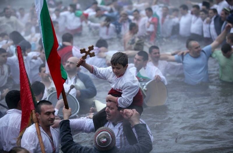"""The day of the Jordan"" in Bulgaria."