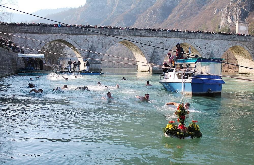 Višegrad. Swim in the Drina River.