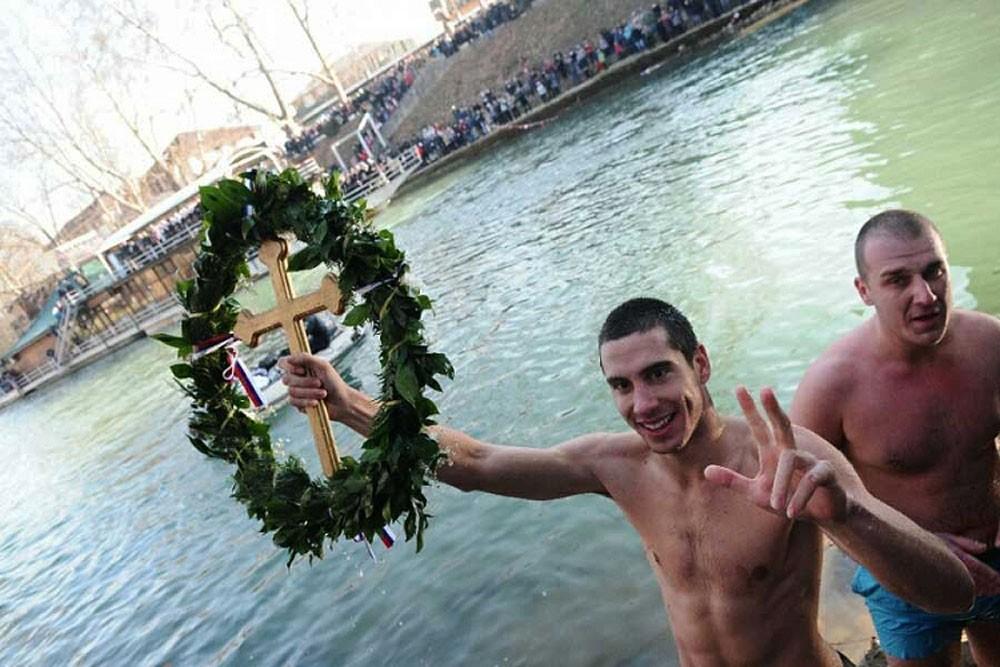 Banja Luka. The winner of the swim on the Vrbas River.