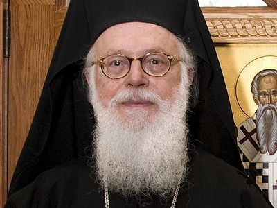 Russian Greetings to His Beatitude Archbishop Anastasios of Tirana and All Albania on his Name's Day
