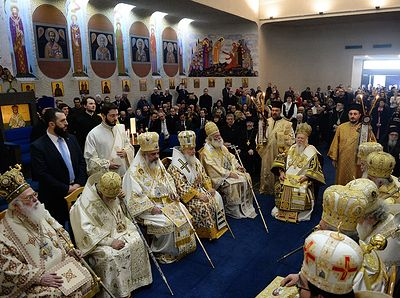 Primates of Local Orthodox Churches celebrate liturgy at St. Paul church in Chambesy