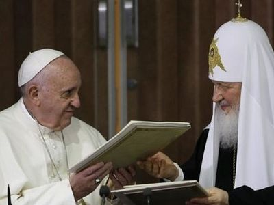 Patriarch Kirill says he has discussed ways to prevent global war with Pope Francis