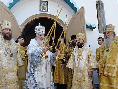 Primate of Russian Church celebrates Liturgy at the Church of Protecting Veil of the Mother of God in Asuncion