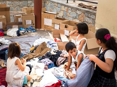 To help the refugee crisis on the island of Lesvos