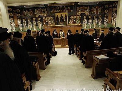Опубликовано коммюнике первого дня заседаний Священного Синода Элладской Православной Церкви