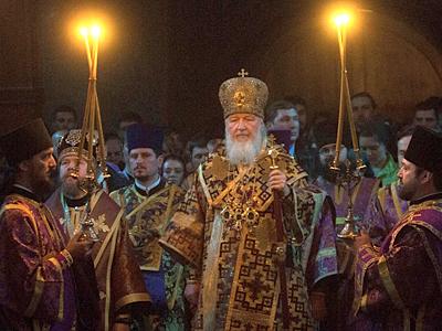 Патриаршее богослужение в Сретенском монастыре (+ФОТО +ВИДЕО)