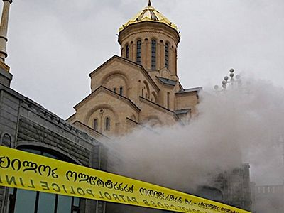 Fire broke out at Georgian Orthodox Church's main cathedral
