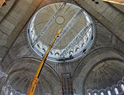Preparations for mosaics begin in Belgrade's Saint Sava Cathedral