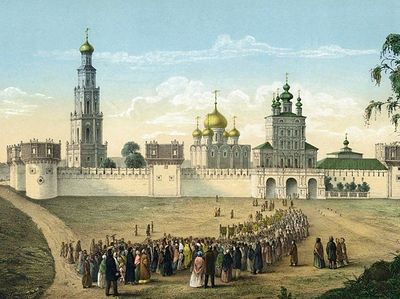 Moscow in 18th century watercolor images