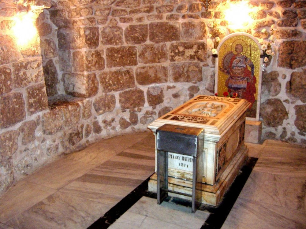 Мощи вмч. Георгия в храме г. Лидда