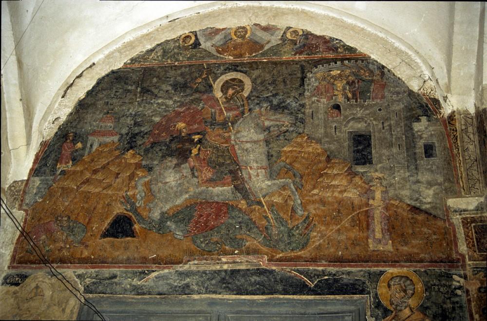 Монастырь вмч. Георгия. Алаверди, Грузия. Фреска св. Георгия