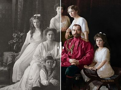 Romanov family photos now in color