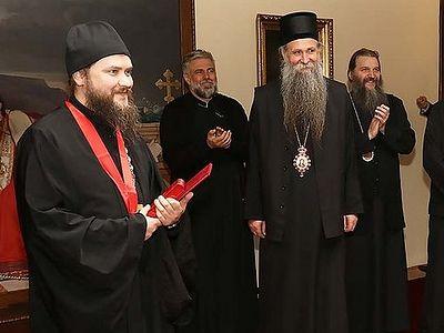 Патриарх Сербский наградил московский Сретенский монастырь орденом