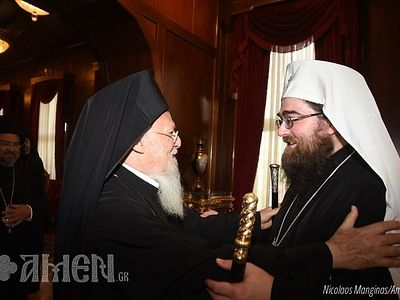 Metropolitan Rastislav of Czech Lands and Slovakia, on first irenic visit to Constantinople
