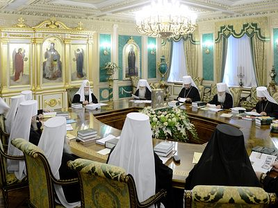 The Holy Synod of Bishops Deliberates on Problems Arising in Preparation for the Pan-Orthodox Council