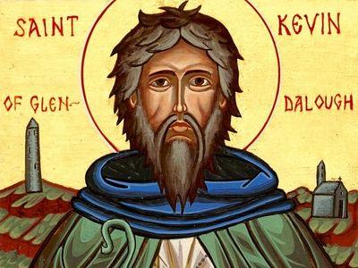 Преподобный Кевин, игумен Глендалохский, чудотворец