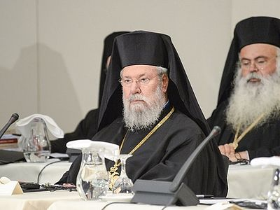 Archbishop Chrysostomos of Cyprus accused bishops, theologians, and laity critical of Holy and Great Council of fundamentalism in speech at opening of Crete Synaxis