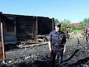 Костромской полицейский спас из огня семью с младенцем