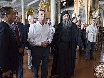Председатель Государственной Думы России посетил Русский монастырь на Афоне