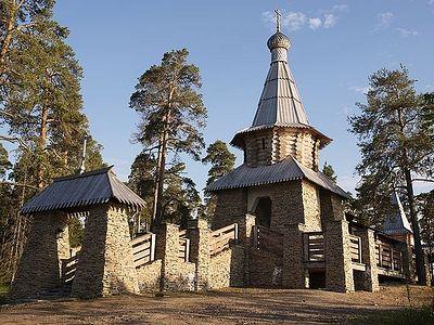 Святейший Патриарх Кирилл освятил на Валааме часовню в честь Всех Валаамских святых