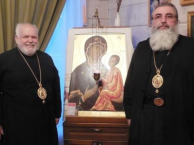 Bishop Paul, MW clergy guests of Russian Church for Feast of the Tikhvin Icon