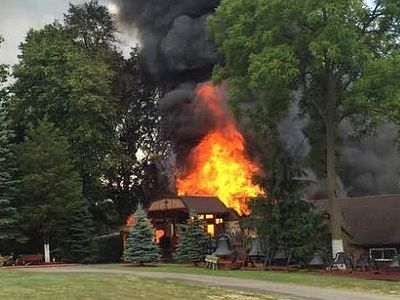Fire destroys church at Ascension Monastery Church, Clinton, MI