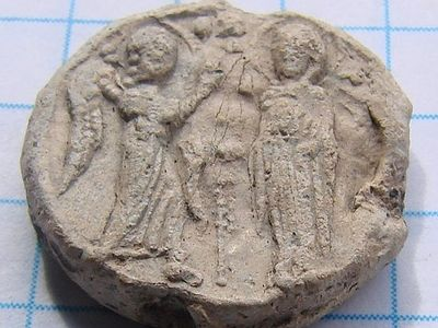 Archeologists discovered old Russian prince's seal with depiction of the Annunciation